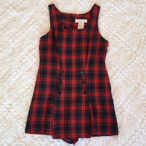 Vintage Paris Sport Club Plaid Shorts Romper